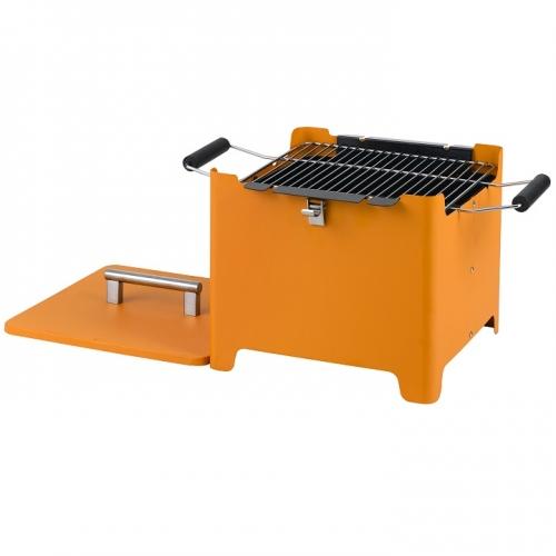 Tepro 1144 CUBE Chill&Grill Holzkohlegrill -orange