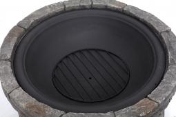 Tepro 1074 GLADSTONE Feuerstelle in Steinoptik mit Funkenschirm