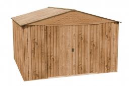 COLOSSUS 10x10 Metallgerätehaus Holz-Dekor Eiche