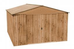 COLOSSUS 10x12 Metallgerätehaus Holz-Dekor Eiche