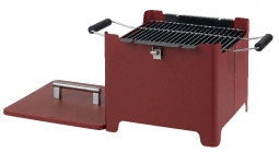 Tepro 1143 CUBE Chill&Grill Holzkohlegrill -rot