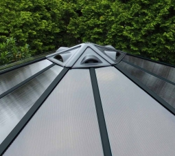 Palram 702563 Aluminium Gazebo Pavillon Monaco Ø450x390 cm