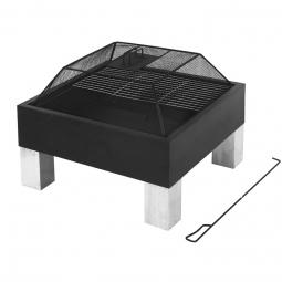 LAREDO Feuerstelle mit Funkenschutz und Grillfläche