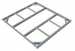 Metall-Unterkonstruktion Riverton 6x4 + 1 Erweiterung