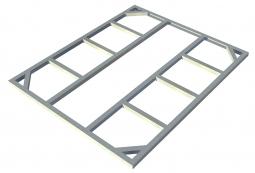 Metall-Unterkonstruktion Riverton 6x4 + 2 Erweiterungen