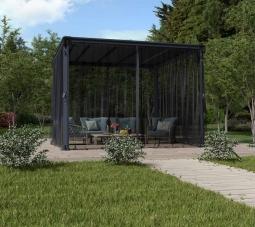 Palram 703320 Moskitonetz für Aluminium Gazebo Pavillon PALERMO 3000/3500/3600 + MILANO 3000 + MARTINIQUE 3600