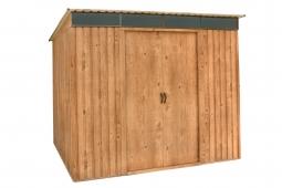 PENT ROOF SKYLIGHT 8x6 Metallgerätehaus Holz-Dekor Eiche