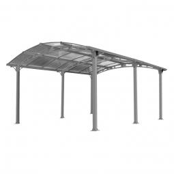 Palram 701592 Carport Arcadia 5000 anthrazit inkl. Regenrinne 502x359 cm