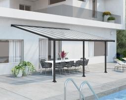 Palram 704219 Aluminium Terrassenüberdachung 3x5,5 m Olympia grau Terrassendach Überdachung Vordach Unterstand