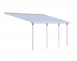 Palram 704352 Aluminium Terrassenüberdachung 3 x 6,10 m Olympia weiß Terrassendach Überdachung Vordach Unterstand