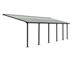Palram 704355 Aluminium Terrassenüberdachung 3x8,5 m Olympia grau Terrassendach Überdachung Vordach Unterstand