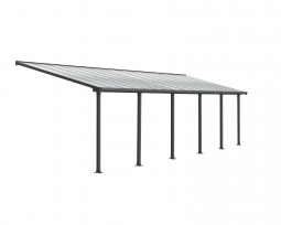 Palram 704358 Aluminium Terrassenüberdachung 3x9,15 m Olympia grau Terrassendach Überdachung Vordach Unterstand