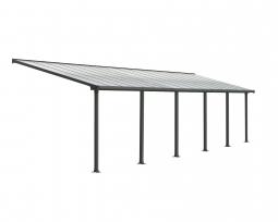 Palram 704360 Aluminium Terrassenüberdachung 3x9,71 m Olympia grau Terrassendach Überdachung Vordach Unterstand