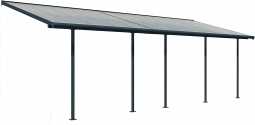 Palram 705753 Terrassenüberdachung Carnival 790 cm x 300 cm Grau klar