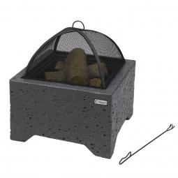 SANFORD Feuerstelle in Betonoptik mit Funkenschutz