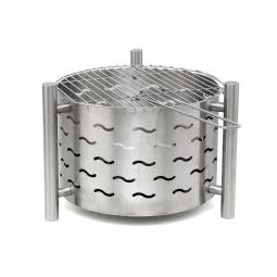 SILVERADO Design Feuerstelle mit Grillfunktion
