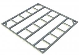 Tepro 7408 Metall-Unterkonstruktion Colossus 10x8 + 1 Erweiterung