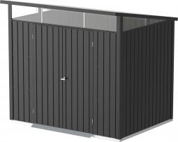 Tepro 7426 Metallgerätehaus Palladium 8x6 mit Pultdach, Doppeltür und Oberlicht