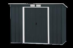 Tepro 7429 Metallgerätehaus Pent Roof Eco 8x4 anthrazit mit Pultdach