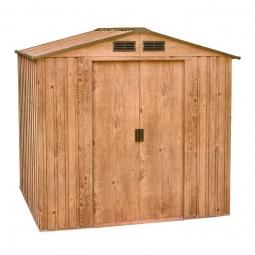 Tepro 7430 Metallgerätehaus Riverton 6x4 Holz-Dekor Eiche mit Giebeldach