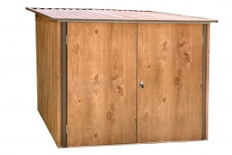 Tepro 7446 Fahrradbox Holz-Dekor Eiche 4 Fahrräder