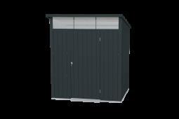 Tepro 7456 Metallgerätehaus Palladium 6x5 anthrazit mit Pultdach und Oberlicht
