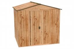 Tepro 7607 RIVERTON 6x6 Metallgerätehaus Holz-Dekor Eiche