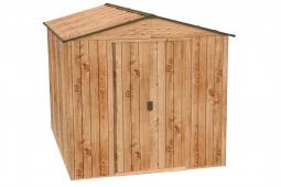 Tepro 7608 RIVERTON 6x8 Metallgerätehaus Holz-Dekor Eiche